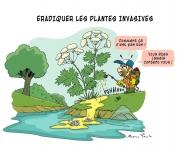 Dessin lutte plante invasive
